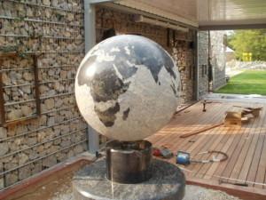 globus granitowy